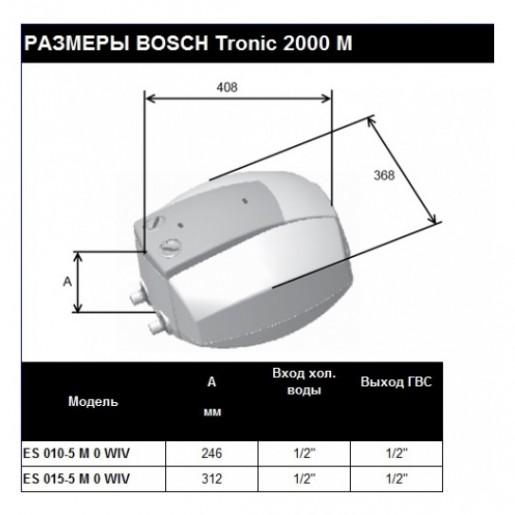 Електричний бойлер Bosch TR 2000 T 15 B
