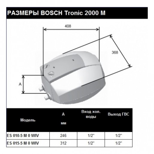 Електричний бойлер Bosch TR 2000 T 15 T