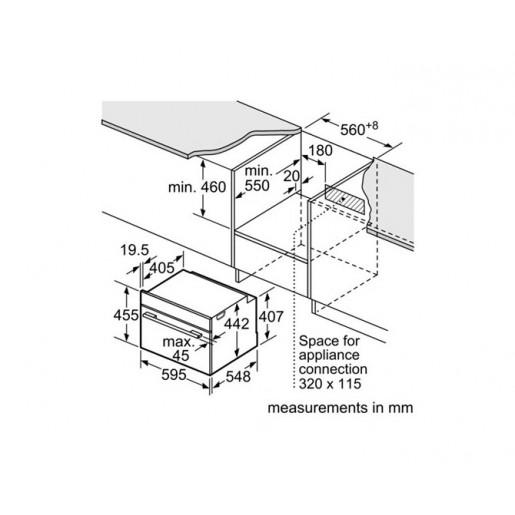 Компактна духова шафа з мікрохвильовим режимом BOSCH CMG636BS1